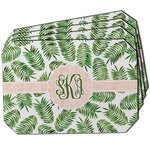 Tropical Leaves Dining Table Mat - Octagon w/ Monogram