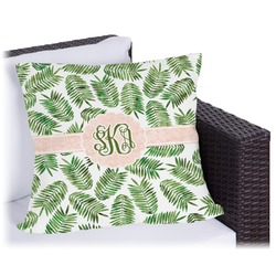 "Tropical Leaves Outdoor Pillow - 20"" (Personalized)"