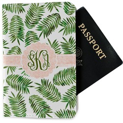 Tropical Leaves Passport Holder - Fabric (Personalized)