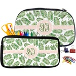 Tropical Leaves Pencil / School Supplies Bag (Personalized)
