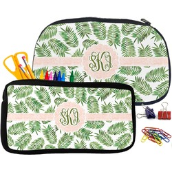 Tropical Leaves Neoprene Pencil Case (Personalized)