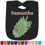 Tropical Leaves Bib - Select Color (Personalized)