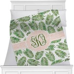 Tropical Leaves Minky Blanket (Personalized)