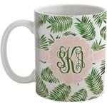 Tropical Leaves Coffee Mug (Personalized)