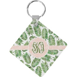 Tropical Leaves Diamond Key Chain (Personalized)