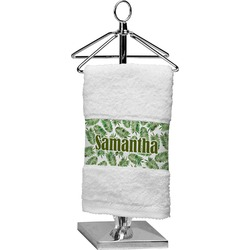 Tropical Leaves Cotton Finger Tip Towel (Personalized)