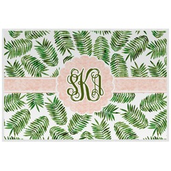 Tropical Leaves Laminated Placemat w/ Monogram