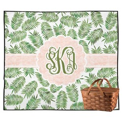 Tropical Leaves Outdoor Picnic Blanket (Personalized)