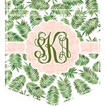 Tropical Leaves Iron On Faux Pocket (Personalized)