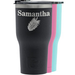 Tropical Leaves RTIC Tumbler - Black (Personalized)