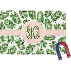 Tropical Leaves Rectangular Fridge Magnet (Personalized)