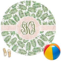 Tropical Leaves Round Beach Towel (Personalized)