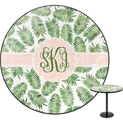Tropical Leaves Round Table (Personalized)