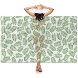 Tropical Leaves Sheer Sarong (Personalized)