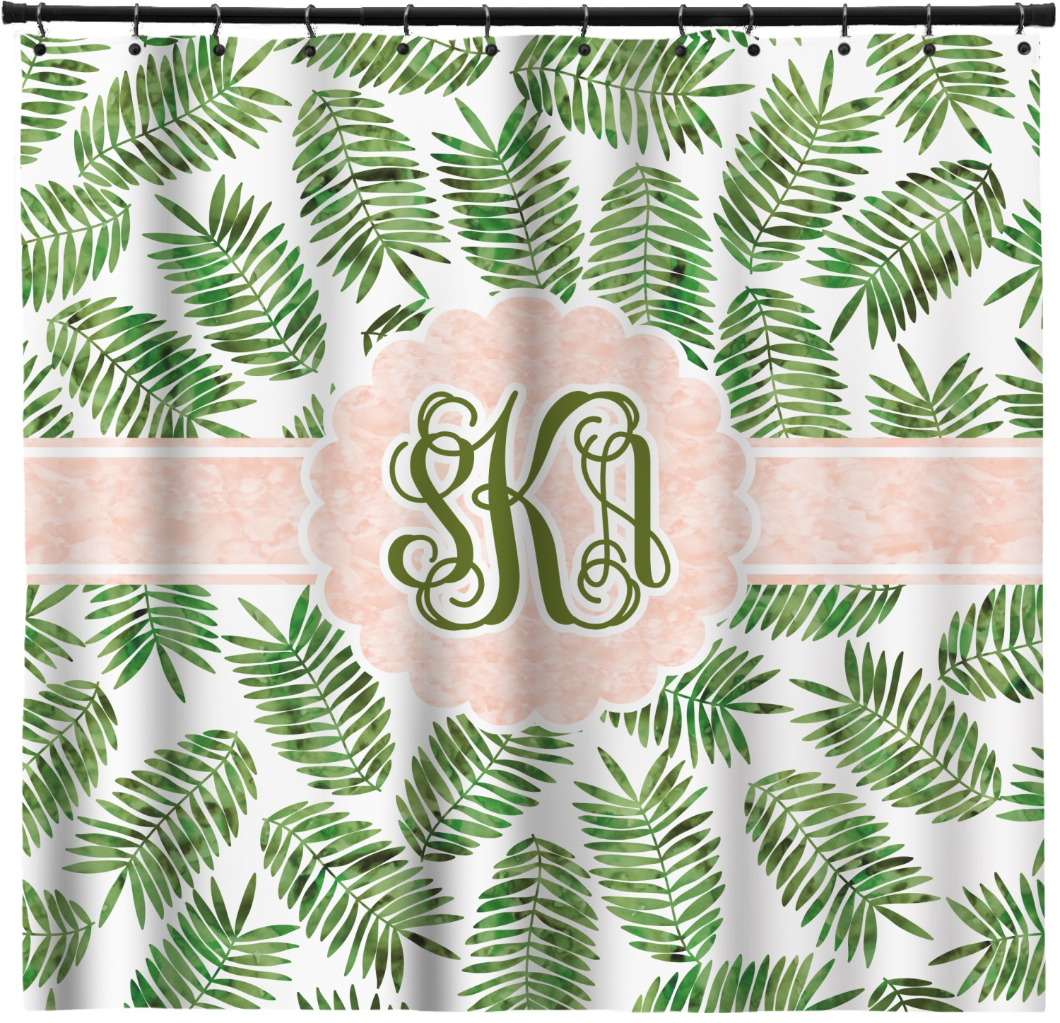 Tropical Leaves Shower Curtain Personalized Youcustomizeit Also set sale alerts and shop exclusive offers only on shopstyle. tropical leaves shower curtain personalized