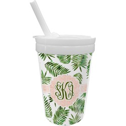 Tropical Leaves Sippy Cup with Straw (Personalized)