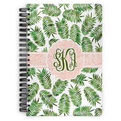 Tropical Leaves Spiral Notebook (Personalized)