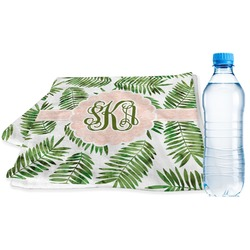 Tropical Leaves Sports Towel (Personalized)