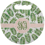 Tropical Leaves Stadium Cushion (Round) (Personalized)