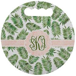 Tropical Leaves Stadium Cushion (Round) (Personalized)