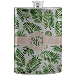 Tropical Leaves Stainless Steel Flask (Personalized)