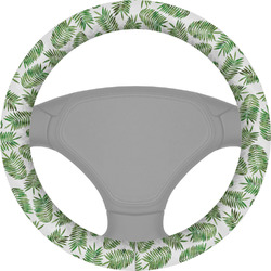 Tropical Leaves Steering Wheel Cover (Personalized)