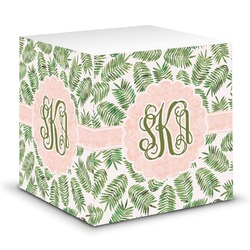 Tropical Leaves Sticky Note Cube (Personalized)