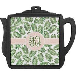 Tropical Leaves Teapot Trivet (Personalized)