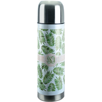 Tropical Leaves Stainless Steel Thermos (Personalized)