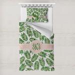 Tropical Leaves Toddler Bedding w/ Monogram