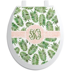 Tropical Leaves Toilet Seat Decal (Personalized)