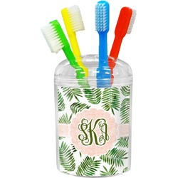 Tropical Leaves Toothbrush Holder (Personalized)