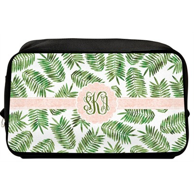 Tropical Leaves Toiletry Bag / Dopp Kit (Personalized)