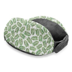 Tropical Leaves Travel Neck Pillow (Personalized)