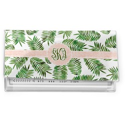 Tropical Leaves Vinyl Checkbook Cover (Personalized)