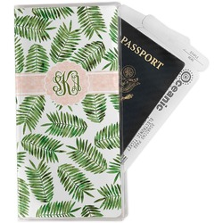 Tropical Leaves Travel Document Holder