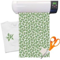 "Tropical Leaves Heat Transfer Vinyl Sheet (12""x18"")"