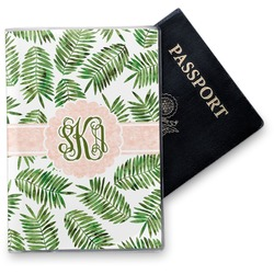Tropical Leaves Vinyl Passport Holder (Personalized)