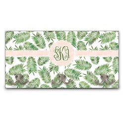 Tropical Leaves Wall Mounted Coat Rack (Personalized)