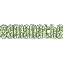 Tropical Leaves Name/Text Decal - Large (Personalized)
