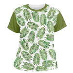 Tropical Leaves Women's Crew T-Shirt (Personalized)