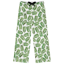 Tropical Leaves Womens Pajama Pants - XL (Personalized)
