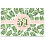 Tropical Leaves Woven Mat (Personalized)