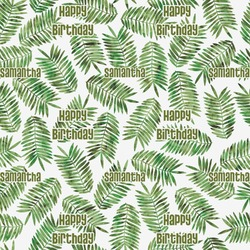 Tropical Leaves Wrapping Paper (Personalized)