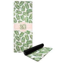 Tropical Leaves Yoga Mat (Personalized)