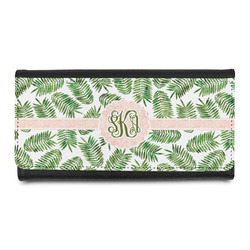 Tropical Leaves Leatherette Ladies Wallet (Personalized)