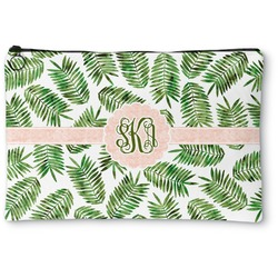 Tropical Leaves Zipper Pouch (Personalized)