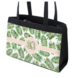 Tropical Leaves Zippered Everyday Tote (Personalized)