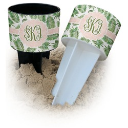 Tropical Leaves Beach Spiker Drink Holder (Personalized)