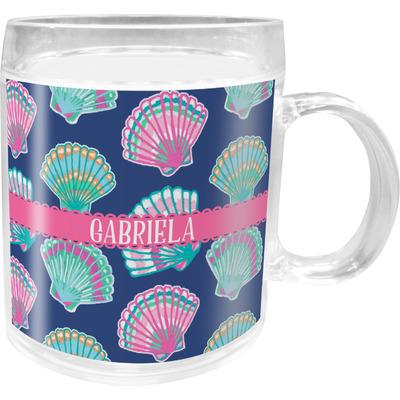 Preppy Sea Shells Acrylic Kids Mug (Personalized)